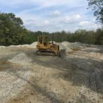 Gravel Lot In Moors Hill, Indiana